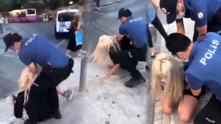 Maske takmadığı gerekçesiyle bir kadını darp ederek gözaltına alan polislere uzaklaştırma!