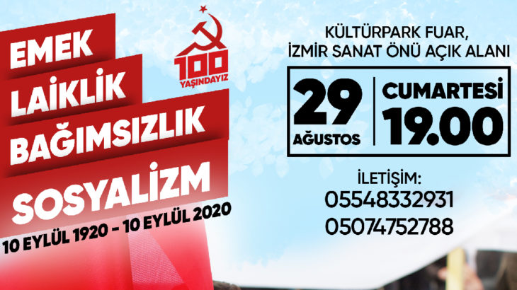 Komünistlerden İzmir'de 100. yıl etkinliği