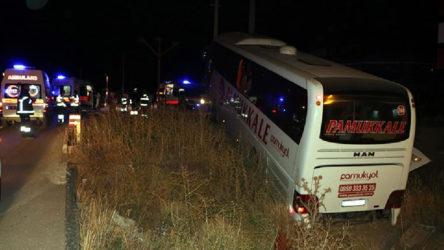 Yolcu otobüsü şarampole düştü, 30 kişi yaralandı