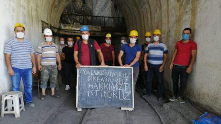 13 aydır maaşlarını alamayan maden işçileri greve başladı