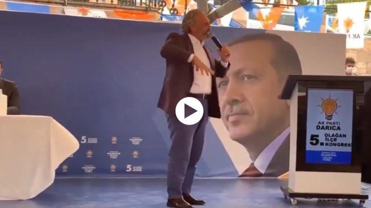 VİDEO | AKP'li Ahmet Hamdi Çamlı meyhaneyle parti kongresini karıştırdı: Dediğini kimse anlamadı