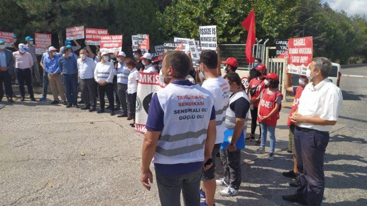 Cargill işçilerinden direnişin 881. gününde eylem