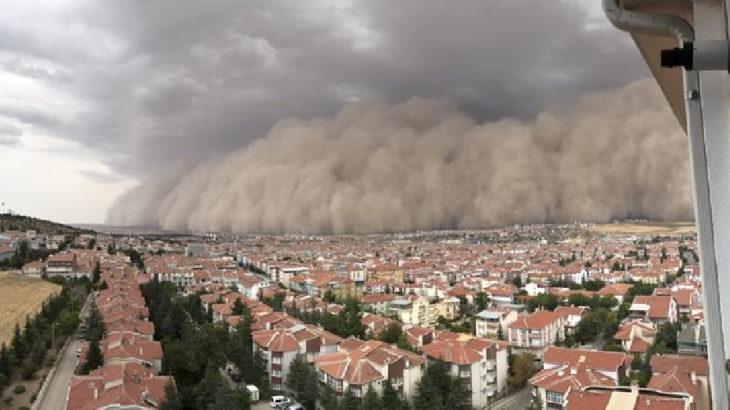 Ankara Polatlı'da kum fırtınası