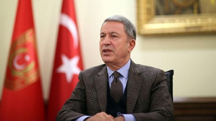 Bakan Akar'dan Almanya Savunma Bakanı ile 'Doğu Akdeniz' görüşmesi