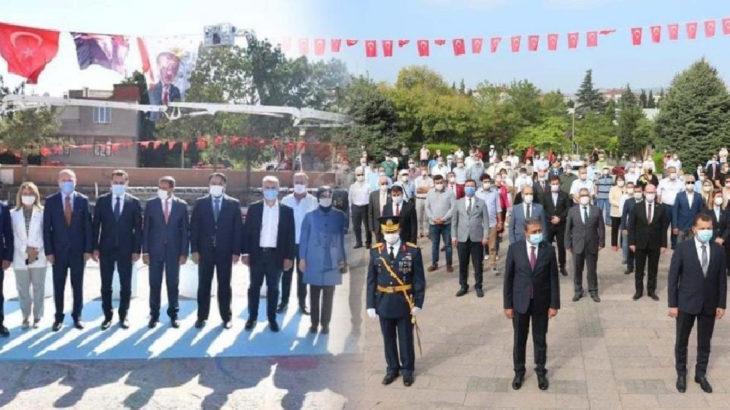 AKP'li vekiller temel atma töreninde varlar, 30 Ağustos'ta yoklar