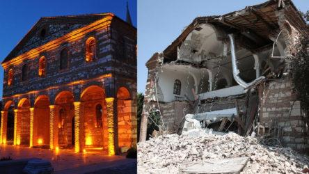 Belediyeden alınıp Cami Vakfı'na verilen tarihi kilise bakımsızlıktan yıkıldı