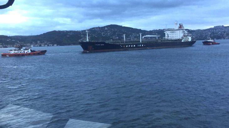 İstanbul Boğazı'nda tanker sürüklendi