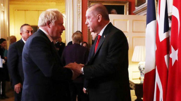 Erdoğan Johnson ile görüştü