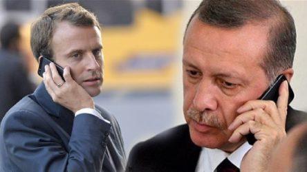 Erdoğan'dan Macron'la telefon görüşmesi