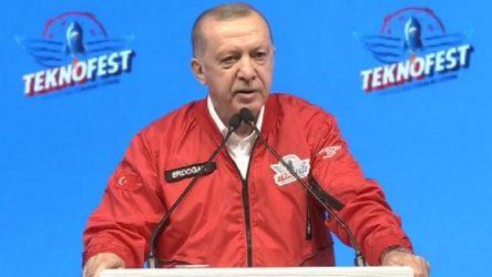 Erdoğan'dan Teknofest'te 'İHA' açıklaması