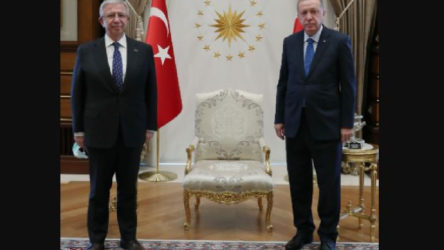 Erdoğan, Mansur Yavaş'la görüştü