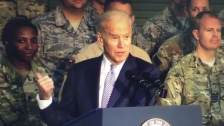 Biden ABD askerlerine seslendi: Alkışlayın aptal p*çler!