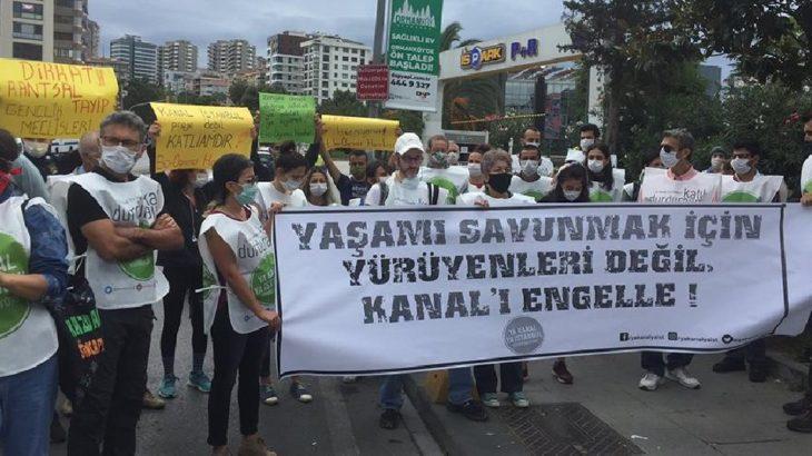 Kanal İstanbul yürüyüşüne polis engeli: 2 kişi gözaltında