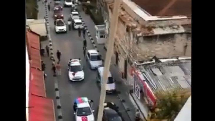 VİDEO | İstanbul'da Ermeni Patrikhanesi yakınında Azerbaycan bayraklı gösteri