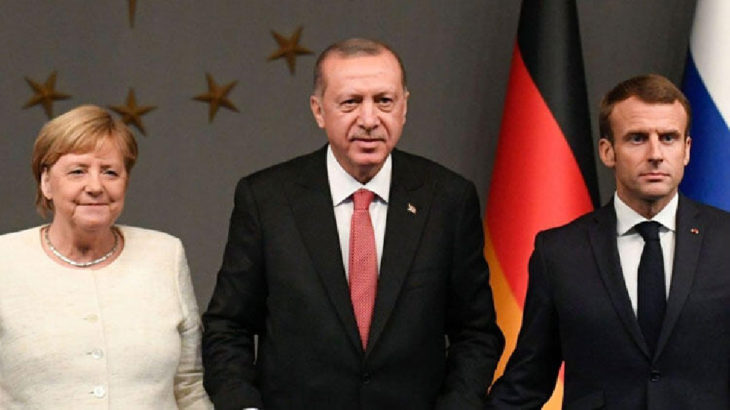 Erdoğan ve Merkel telekonferansla görüştü
