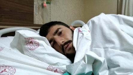 Rize'de kafasına yorgun mermi isabet eden genç yaralandı
