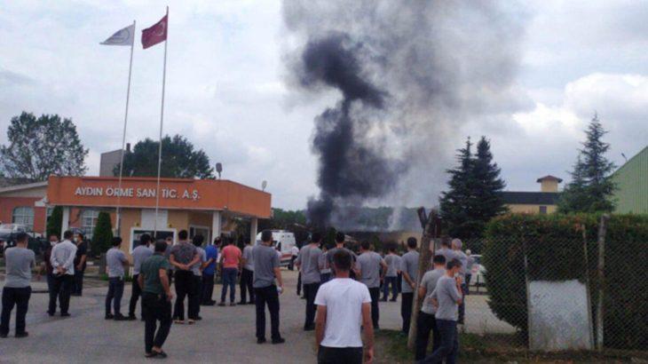 Fabrikada patlama: Yaralı işçiler var