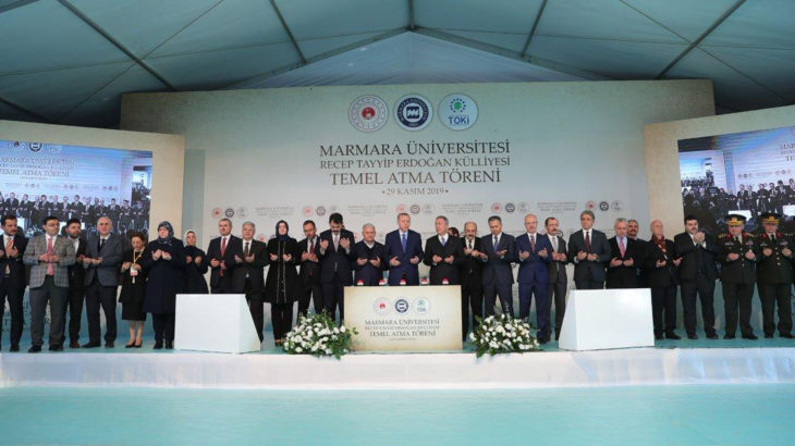 TKH Gençliği'nden Erdoğan Külliyesi'ne tepki