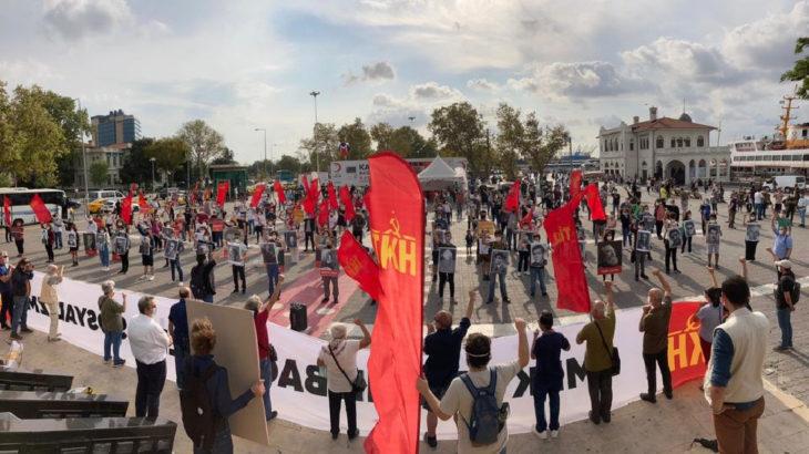 Komünistlerden Kadıköy'de sosyal mesafeli 100. yıl buluşması