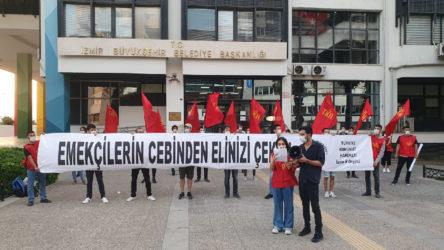 TKH'den İzmir'de 'ulaşım zammı' eylemi: Emekçilerin cebinden elinizi çekin!