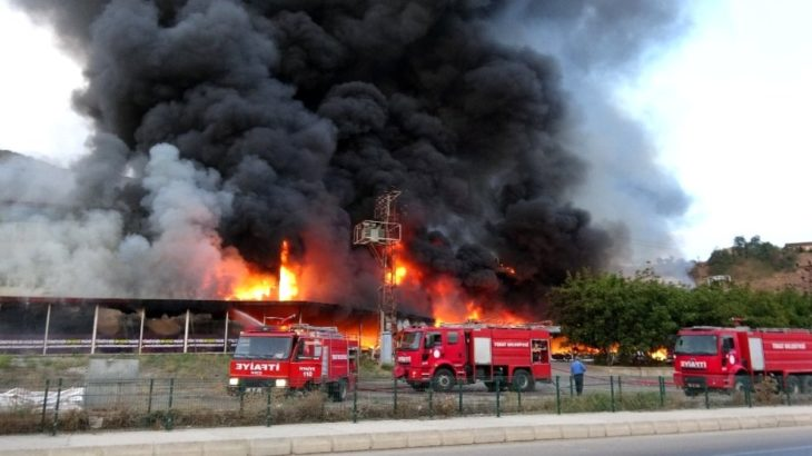 Tokat'ta AVM'de yangın