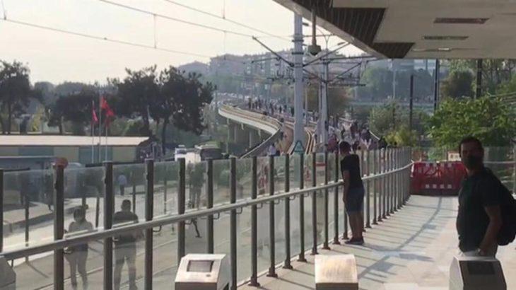 Tramvay seferlerine elektrik arızası engeli