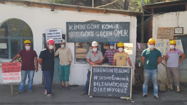 Ermenekli madenciler patronun peşini bırakmıyor