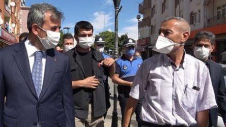 Valiye 'maske denetimi'nde ekonomi isyanı