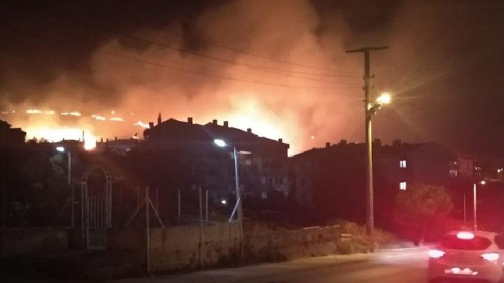Yalova'da ormanlık alanda büyük yangın