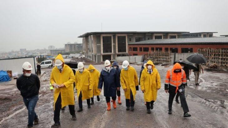 Şentop, Recep Tayyip Erdoğan Külliyesi'nin inşaatına gitti