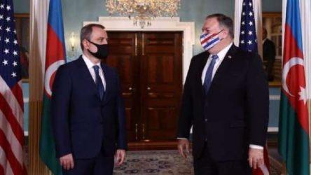 ABD Dışişleri Bakanı Pompeo, Azerbaycanlı mevkidaşı Bayramov ile görüştü