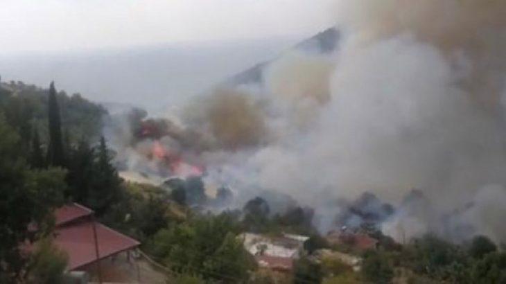 Anamur'da orman yangını: Yerleşim yerlerine çok yakın