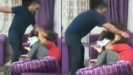 Çocuklarını döverken sosyal medyadan canlı yayın yapan baba gözaltında!