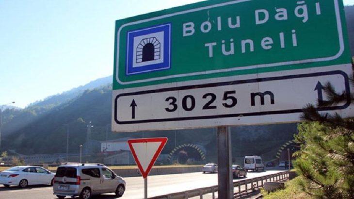 Bolu Dağı tüneli Ankara istikametine 32 gün kapalı