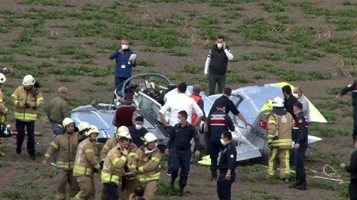 Düşen uçakta ağır yaralanan pilotaj öğrencisi acil iniş için izin istemiş
