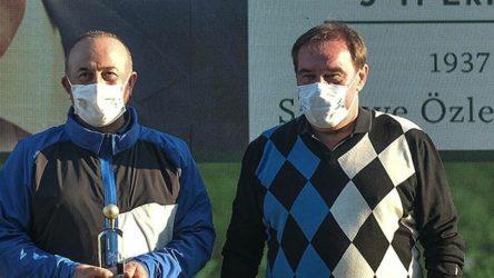 Çavuşoğlu Demirören'in golf turnuvasında 1. oldu