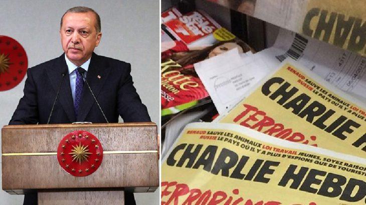 Charlie Hebdo dergisi Erdoğan'ı hedef aldı