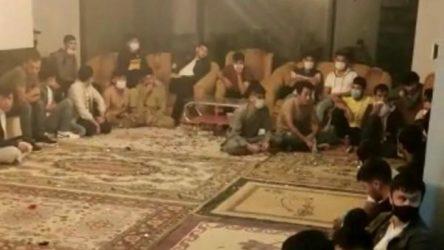 Kocaeli Gölcük'te bir evde 42 kaçak göçmen yakalandı