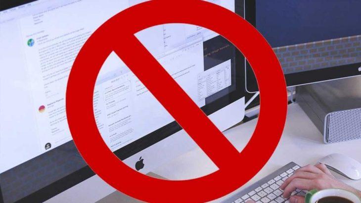 Haber sitelerine erişim engeli!