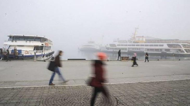 Olumsuz hava koşulları vapur seferlerinde iptallere neden oldu