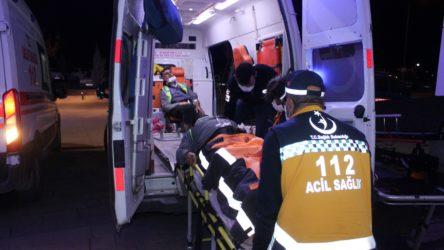 İşçileri taşıyan minibüs devrildi: 14 yaralı