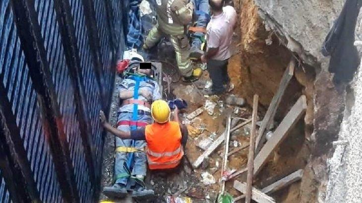 Kadıköy'de inşaat iskelesi çöktü: 3 işçi yaralandı