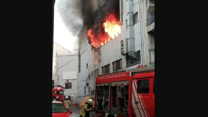 Kağıthane'de yangın