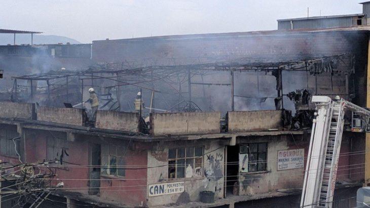 İzmir'de iş yerinde yangın