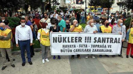 Sinop'ta Bakanlığın onay verdiği Nükleer Santral projesine karşı eylem