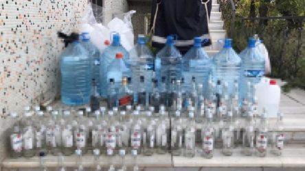 Sultangazi'de 3 buçuk ton sahte içki ele geçirildi