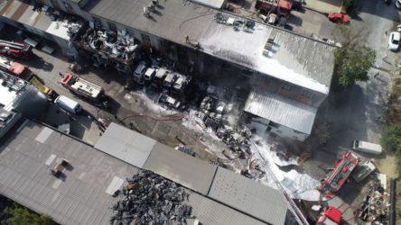 İstanbul'da Atatürk Sanayi Sitesi'nde yangın