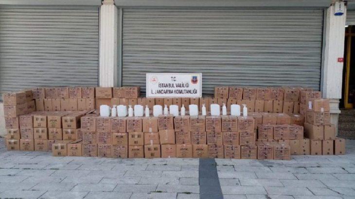 İstanbul'da 8 ton sahte dezenfaktan ele geçirildi