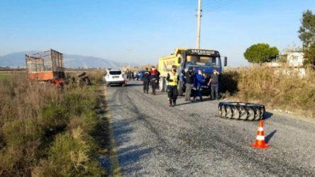 Traktör ile kamyon çarpıştı: 1 ölü