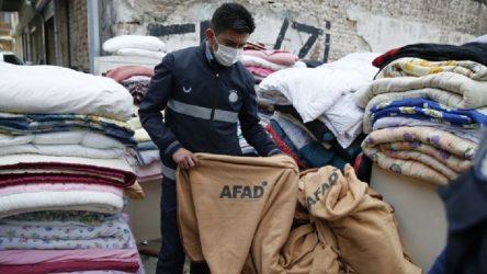 Depremzedeler için dağıtılan battaniyeler işportadan toplandı